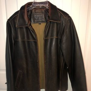 Sonoma Brown Leather Jacket